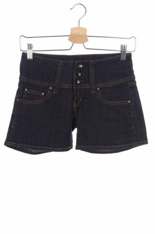 Дамски къс панталон Miss Anna, Размер XS, Цвят Син, 98% памук, 2% еластан, Цена 13,23лв.