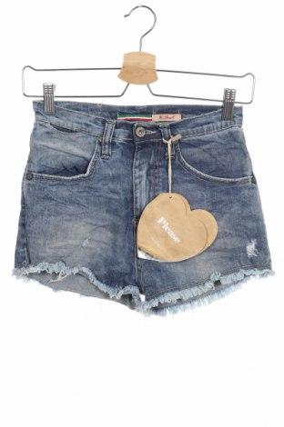 Γυναικείο κοντό παντελόνι Please, Μέγεθος XS, Χρώμα Μπλέ, 98% βαμβάκι, 2% ελαστάνη, Τιμή 32,15€