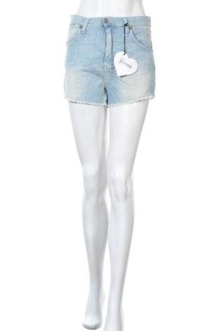 Pantaloni scurți de femei Please, Mărime M, Culoare Albastru, 98% bumbac, 2% elastan, Preț 61,45 Lei