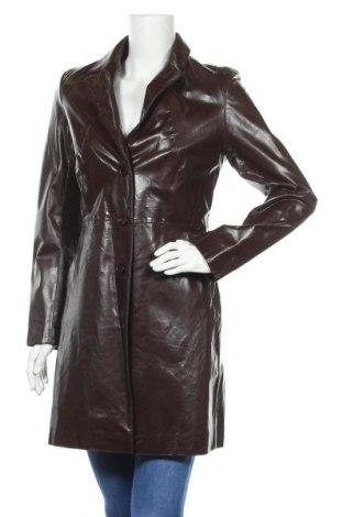 Дамски кожен шлифер Zara, Размер M, Цвят Кафяв, Естествена кожа, Цена 91,50лв.