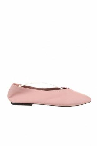 Дамски обувки Zara, Размер 41, Цвят Розов, Естествена кожа, Цена 54,00лв.