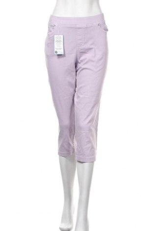 Дамски панталон Anna Montana, Размер XL, Цвят Лилав, 71% памук, 25% полиестер, 4% еластан, Цена 34,02лв.