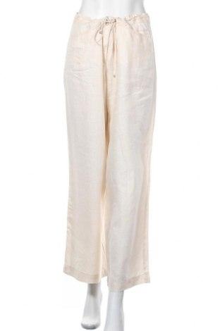 Дамски панталон Brax, Размер L, Цвят Екрю, Лен, Цена 35,44лв.