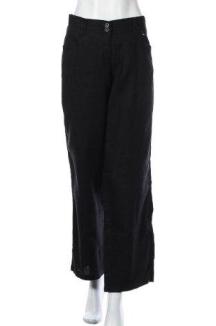 Дамски панталон Brax, Размер XL, Цвят Черен, Лен, Цена 28,35лв.