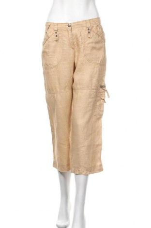 Дамски панталон Brax, Размер S, Цвят Бежов, Лен, Цена 33,92лв.