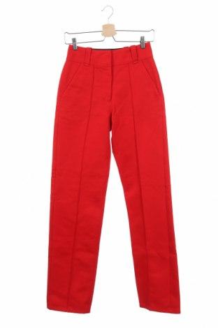 Дамски панталон Burberry, Размер XS, Цвят Червен, Памук, Цена 149,94лв.