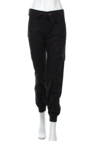 Дамски панталон C&A, Размер XS, Цвят Черен, 52% лен, 48% памук, Цена 7,49лв.