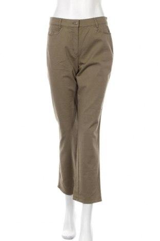 Дамски панталон Canda, Размер L, Цвят Зелен, 98% памук, 2% еластан, Цена 19,11лв.