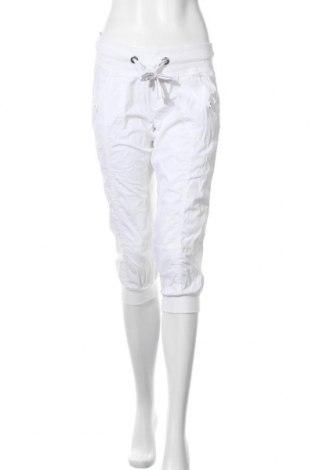 Дамски панталон Colours Of The World, Размер M, Цвят Бял, Памук, Цена 7,09лв.