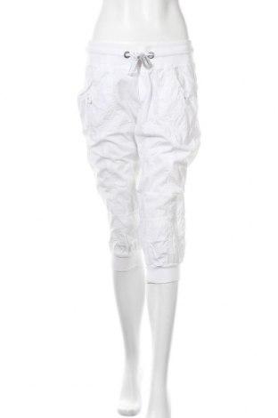 Дамски панталон Colours Of The World, Размер M, Цвят Бял, Памук, Цена 28,35лв.