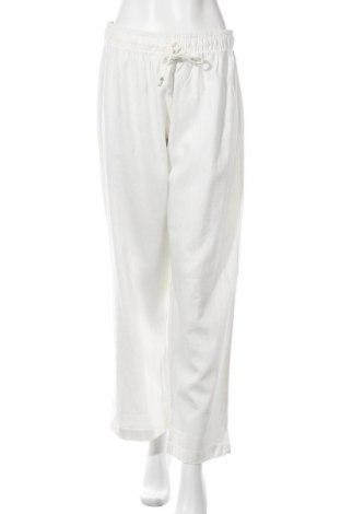 Дамски панталон Esmara, Размер XL, Цвят Бял, 55% лен, 45% вискоза, Цена 36,75лв.