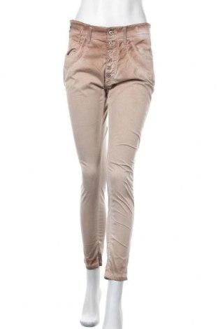 Дамски панталон Gang, Размер M, Цвят Бежов, 97% памук, 3% еластан, Цена 28,67лв.