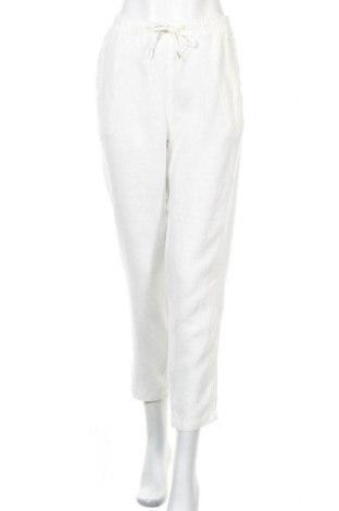 Γυναικείο παντελόνι H&M L.O.G.G., Μέγεθος L, Χρώμα Εκρού, Λινό, Τιμή 16,24€
