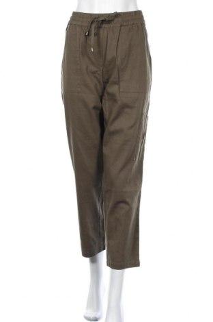 Дамски панталон Kaffe, Размер XL, Цвят Зелен, Памук, Цена 50,40лв.