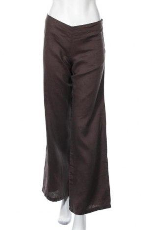 Γυναικείο παντελόνι Sisley, Μέγεθος S, Χρώμα Καφέ, Λινό, Τιμή 12,15€