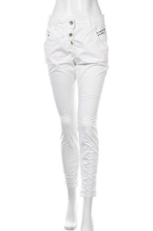 Дамски панталон Taifun By Gerry Weber, Размер M, Цвят Бял, 97% памук, 3% еластан, Цена 16,17лв.