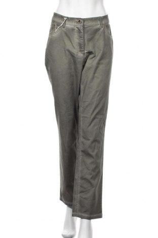 Γυναικείο παντελόνι Ulla Popken, Μέγεθος XL, Χρώμα Πράσινο, 97% βαμβάκι, 3% ελαστάνη, Τιμή 19,12€