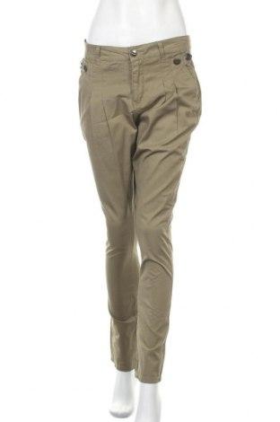 Дамски панталон Vero Moda, Размер M, Цвят Зелен, Памук, Цена 21,26лв.