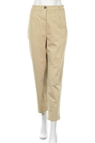 Γυναικείο παντελόνι Weekend Max Mara, Μέγεθος L, Χρώμα  Μπέζ, 98% βαμβάκι, 2% ελαστάνη, Τιμή 51,31€