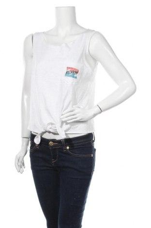 Γυναικείο αμάνικο μπλουζάκι Billabong, Μέγεθος L, Χρώμα Λευκό, Τιμή 10,05€