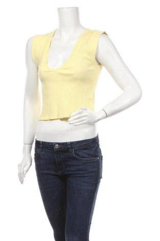 Γυναικείο αμάνικο μπλουζάκι Free People, Μέγεθος M, Χρώμα Κίτρινο, 60% βαμβάκι, 40% πολυεστέρας, Τιμή 25,97€