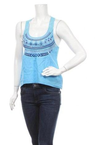 Γυναικείο αμάνικο μπλουζάκι H&M Divided, Μέγεθος S, Χρώμα Μπλέ, Βαμβάκι, Τιμή 3,41€