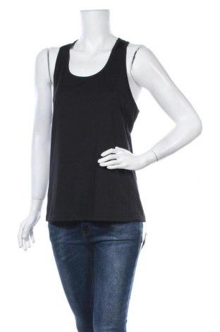Γυναικείο αμάνικο μπλουζάκι H&M Sport, Μέγεθος L, Χρώμα Μαύρο, Τιμή 10,52€