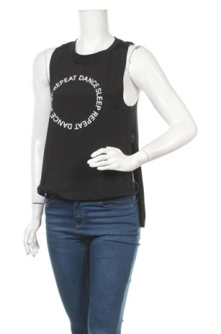 Γυναικείο αμάνικο μπλουζάκι H&M Sport, Μέγεθος S, Χρώμα Μαύρο, 87% πολυεστέρας, 13% ελαστάνη, Τιμή 5,20€