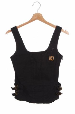 Tricou de damă Karl Kani, Mărime S, Culoare Negru, 99% bumbac, 1% elastan, Preț 42,34 Lei