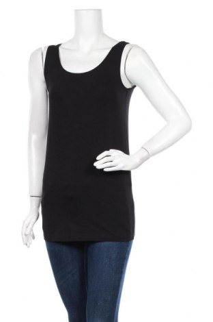 Γυναικείο αμάνικο μπλουζάκι Lindex, Μέγεθος S, Χρώμα Μαύρο, 95% βαμβάκι, 5% ελαστάνη, Τιμή 10,82€