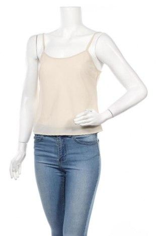 Γυναικείο αμάνικο μπλουζάκι Liu Jo, Μέγεθος L, Χρώμα  Μπέζ, Πολυεστέρας, Τιμή 22,05€