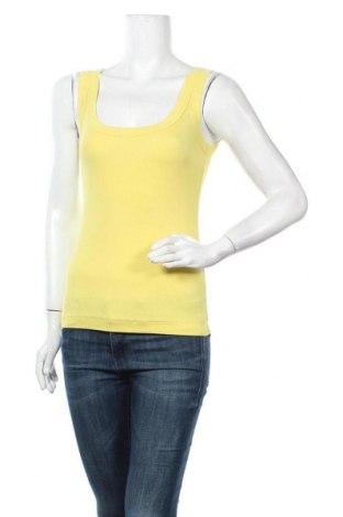 Дамски потник Marc Cain Sports, Размер M, Цвят Жълт, 94% памук, 6% еластан, Цена 23,52лв.