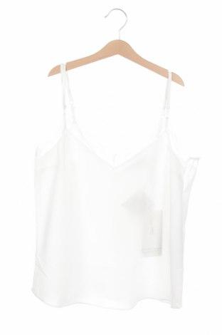 Γυναικείο αμάνικο μπλουζάκι Naf Naf, Μέγεθος S, Χρώμα Λευκό, 97% πολυεστέρας, 3% πολυαμίδη, Τιμή 10,82€