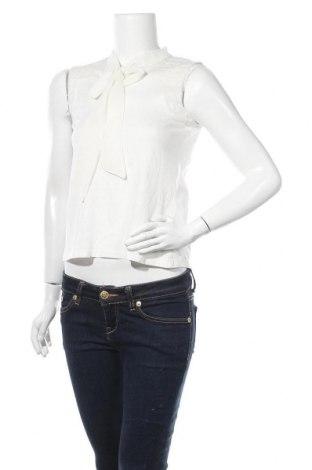 Γυναικείο αμάνικο μπλουζάκι Naf Naf, Μέγεθος S, Χρώμα Λευκό, 60% βαμβάκι, 40% μοντάλ, Τιμή 10,82€