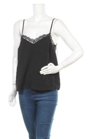 Γυναικείο αμάνικο μπλουζάκι Naf Naf, Μέγεθος M, Χρώμα Μαύρο, 97% πολυεστέρας, 3% πολυαμίδη, Τιμή 10,05€
