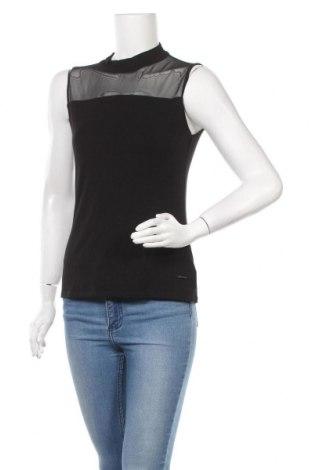Γυναικείο αμάνικο μπλουζάκι Numph, Μέγεθος M, Χρώμα Μαύρο, 95% βισκόζη, 5% ελαστάνη, Τιμή 14,39€