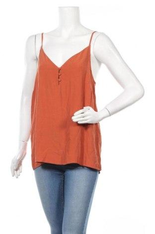 Γυναικείο αμάνικο μπλουζάκι Pieces, Μέγεθος XL, Χρώμα Καφέ, Βισκόζη, Τιμή 10,05€