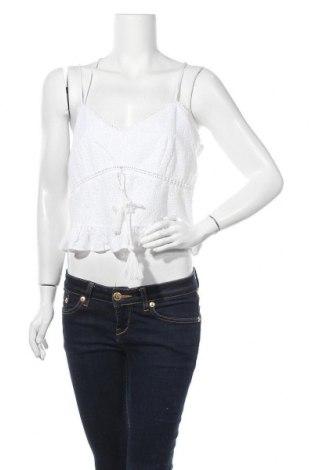 Γυναικείο αμάνικο μπλουζάκι River Island, Μέγεθος L, Χρώμα Λευκό, Βαμβάκι, Τιμή 10,05€
