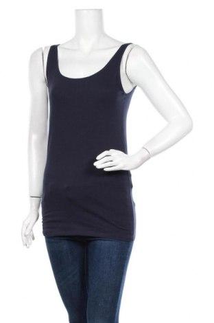Γυναικείο αμάνικο μπλουζάκι Schiesser, Μέγεθος XL, Χρώμα Μπλέ, 95% βαμβάκι, 5% ελαστάνη, Τιμή 9,78€