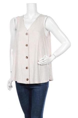Γυναικείο αμάνικο μπλουζάκι Suzanne Grae, Μέγεθος XL, Χρώμα  Μπέζ, 76% βισκόζη, 21% πολυεστέρας, 3% ελαστάνη, Τιμή 3,38€
