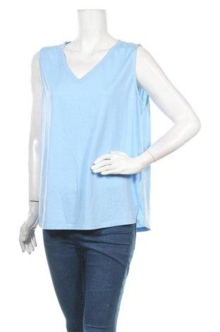Γυναικείο αμάνικο μπλουζάκι Suzanne Grae, Μέγεθος XL, Χρώμα Μπλέ, Πολυεστέρας, βαμβάκι, Τιμή 4,42€
