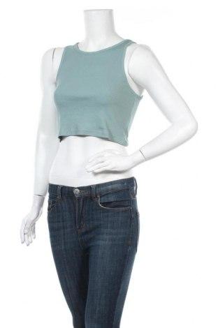 Γυναικείο αμάνικο μπλουζάκι Weekday, Μέγεθος M, Χρώμα Πράσινο, 95% βαμβάκι, 5% ελαστάνη, Τιμή 10,05€