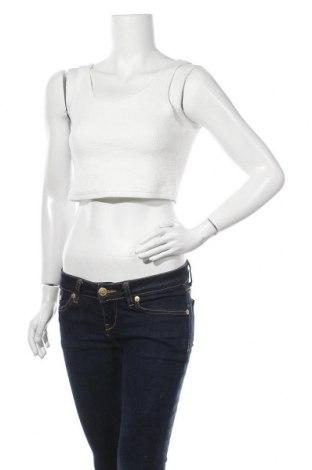 Γυναικείο αμάνικο μπλουζάκι Weekday, Μέγεθος M, Χρώμα Λευκό, 95% βαμβάκι, 5% ελαστάνη, Τιμή 9,28€