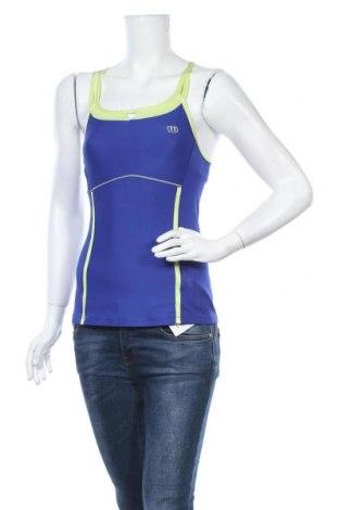 Γυναικείο αμάνικο μπλουζάκι Wilson, Μέγεθος XS, Χρώμα Μπλέ, 88% πολυεστέρας, 12% ελαστάνη, Τιμή 7,60€
