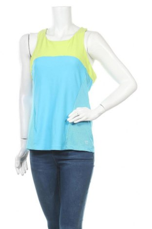 Γυναικείο αμάνικο μπλουζάκι Wilson, Μέγεθος L, Χρώμα Μπλέ, Πολυεστέρας, ελαστάνη, Τιμή 7,73€