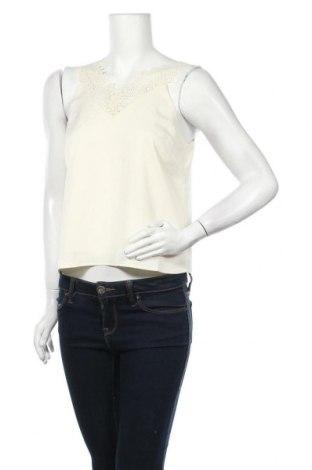Γυναικείο αμάνικο μπλουζάκι Y.A.S, Μέγεθος M, Χρώμα Εκρού, 96% πολυεστέρας, 4% ελαστάνη, Τιμή 18,95€