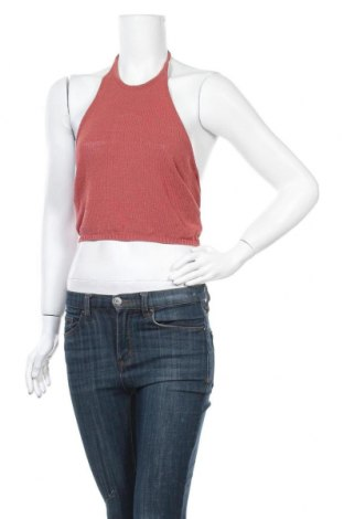 Γυναικείο αμάνικο μπλουζάκι Zara Knitwear, Μέγεθος S, Χρώμα Κόκκινο, 60% βαμβάκι, 40% πολυαμίδη, Τιμή 10,49€