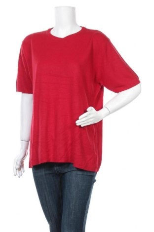 Дамски пуловер Franco Callegari, Размер XXL, Цвят Червен, Акрил, Цена 27,30лв.