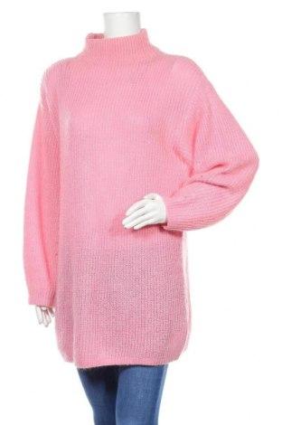 Дамски пуловер H&M, Размер S, Цвят Розов, 55% акрил, 30% полиамид, 15% мохер, Цена 32,00лв.