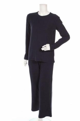 Дамски спортен комплект Anna Field, Размер S, Цвят Син, 62% полиестер, 33% памук, 5% еластан, Цена 25,74лв.